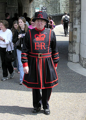 A Yeoman Warder at the Tower of London in Lond...