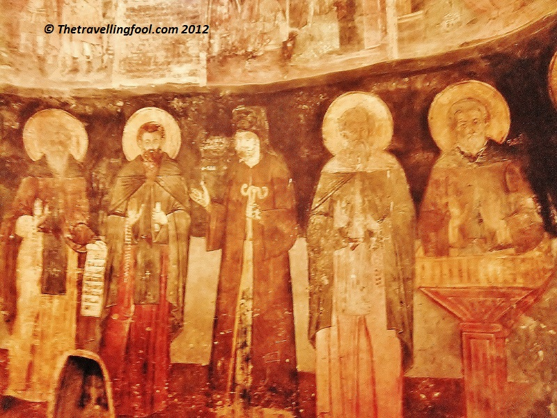 Frescos inside st Naum Church