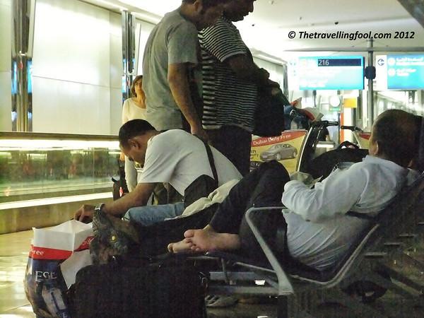 Airport-Sleeping