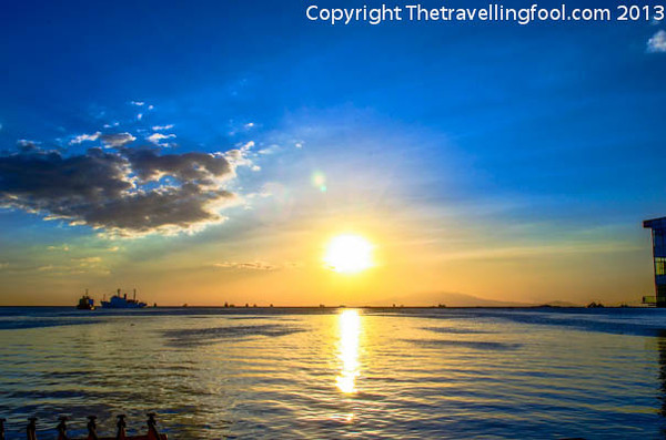 Looking out over Manila bay