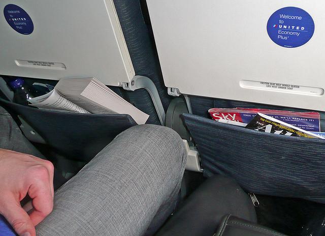 cramped airline seat