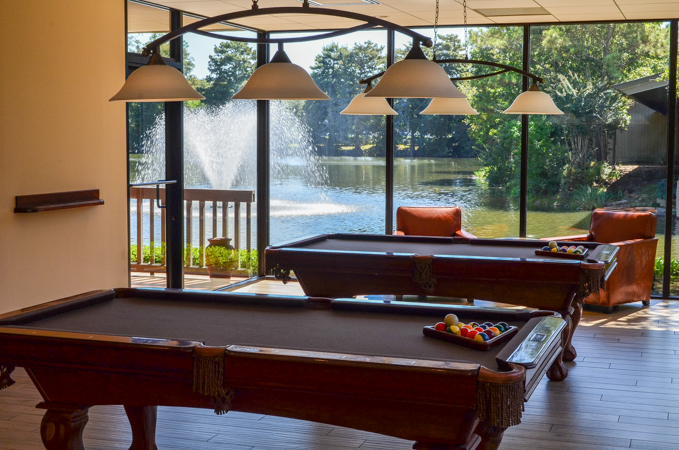 Billiard Room at the Bistro Woodlands Resort