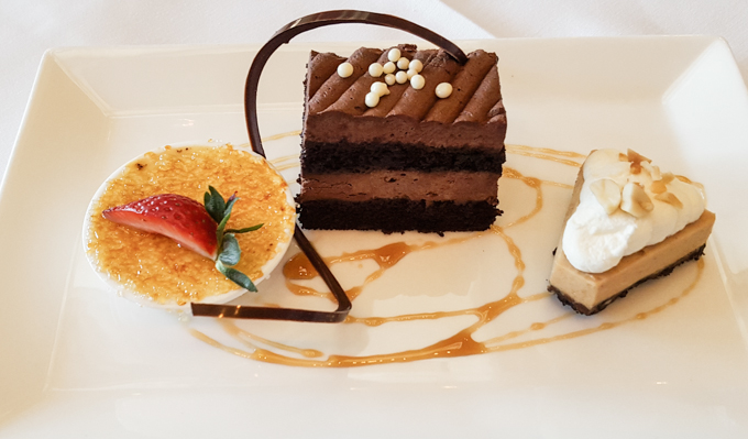 Dessert Trio at Robards Steakhouse The Woodlands Resort