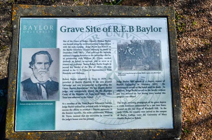 Robert Baylor Grave Marker
